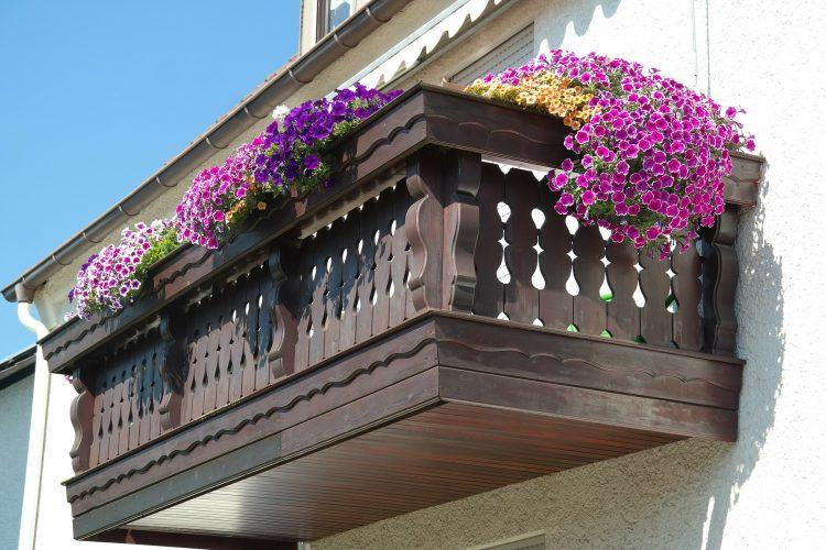 Balkon als Blütenparadies